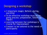 designing a workshop