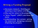 writing a funding proposal