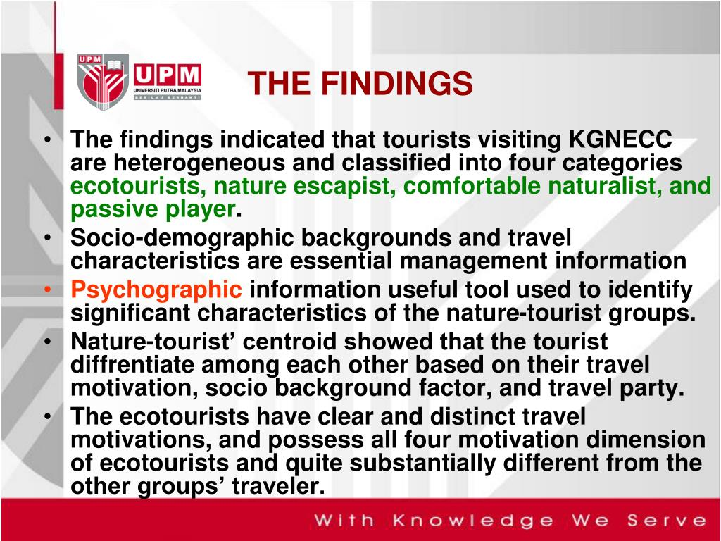 factors which motivate to travel