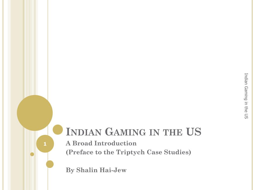 indian gaming in the us l.