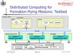 distributed computing for formation flying missions testbed