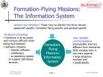 formation flying missions the information system