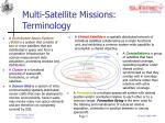 multi satellite missions terminology