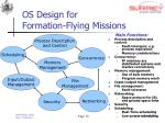 os design for formation flying missions