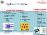 system emulation