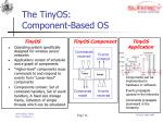 the tinyos component based os