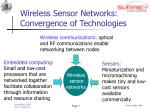 wireless sensor networks convergence of technologies