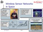 wireless sensor networks in space