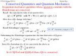 conserved quantities and quantum mechanics