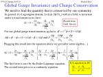 global gauge invariance and charge conservation12