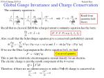 global gauge invariance and charge conservation13