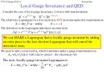 local gauge invariance and qed