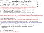 more reaction examples