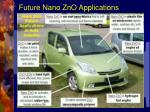 future nano zno applications