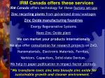 irm canada offers these services