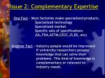 issue 2 complementary expertise