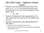 sec ded codes algebraic method contd10