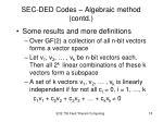 sec ded codes algebraic method contd2