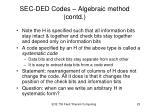 sec ded codes algebraic method contd7