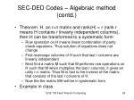 sec ded codes algebraic method contd8