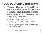 sec ded sbd codes contd