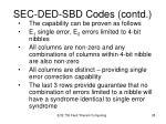 sec ded sbd codes contd4