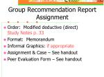 group recommendation report assignment