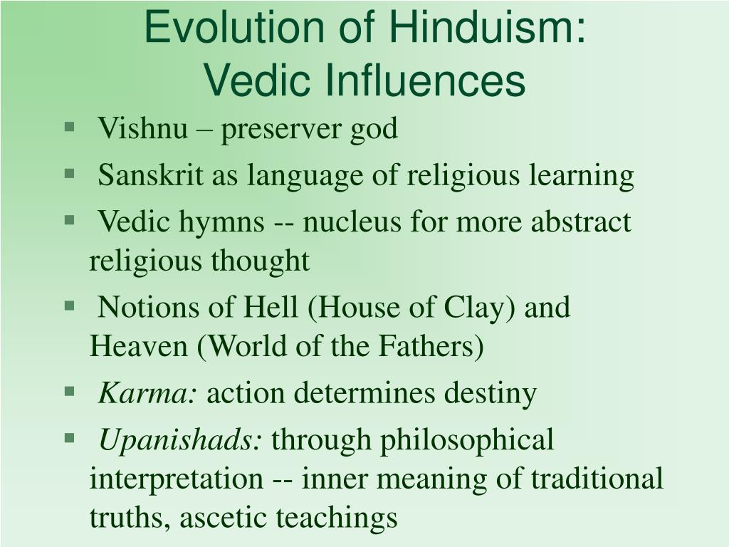 Evolution of Hinduism:
