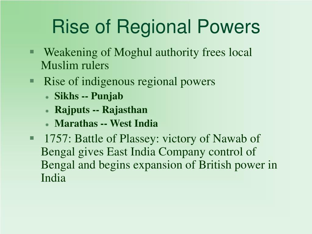 Rise of Regional Powers