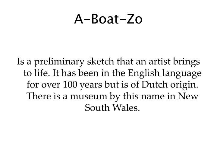 A boat zo