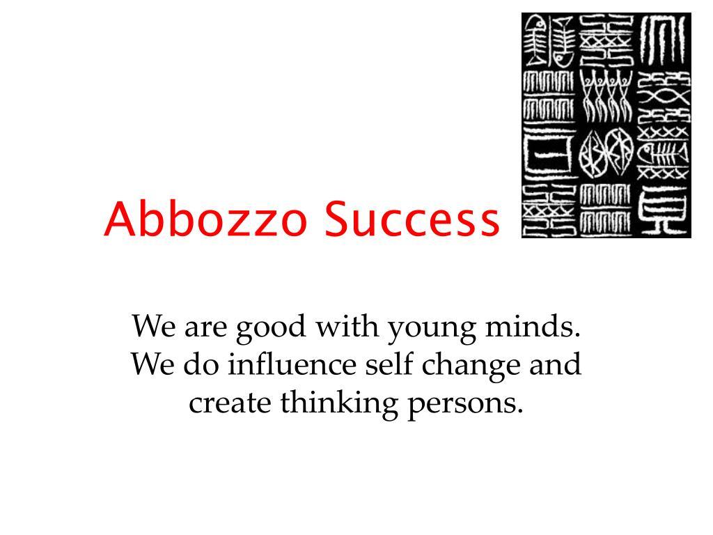 Abbozzo Success