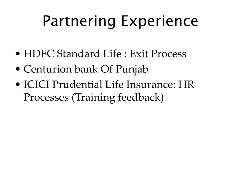 Partnering Experience