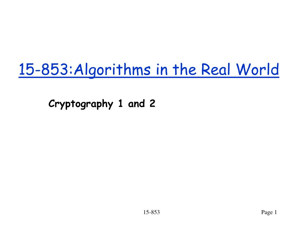 15 853 algorithms in the real world l.