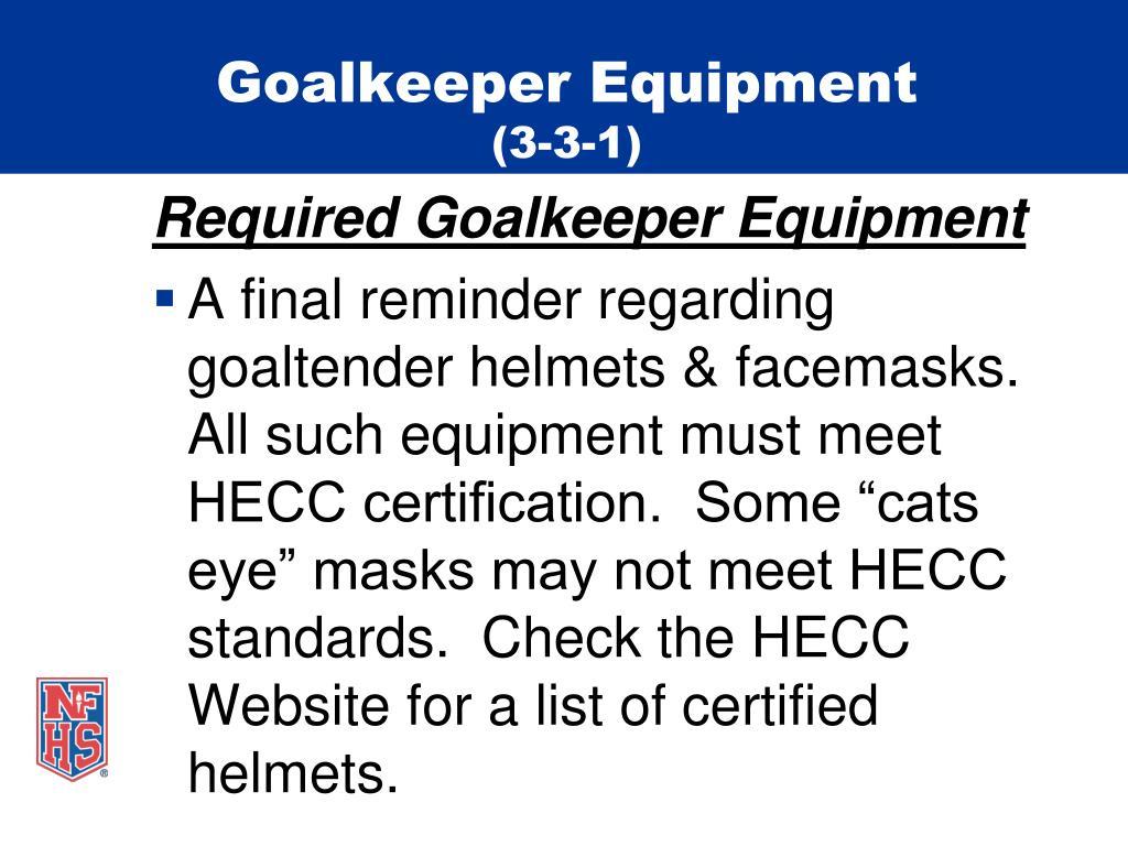 Goalkeeper Equipment