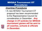 mhsaa tournament ot procedures