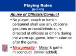 playing rules 6 1 11