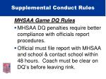 supplemental conduct rules28