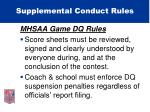 supplemental conduct rules29