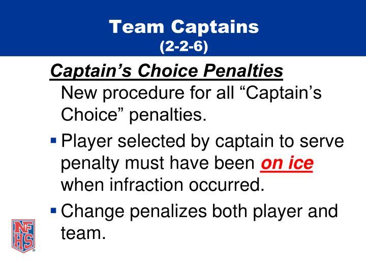 Team captains 2 2 6