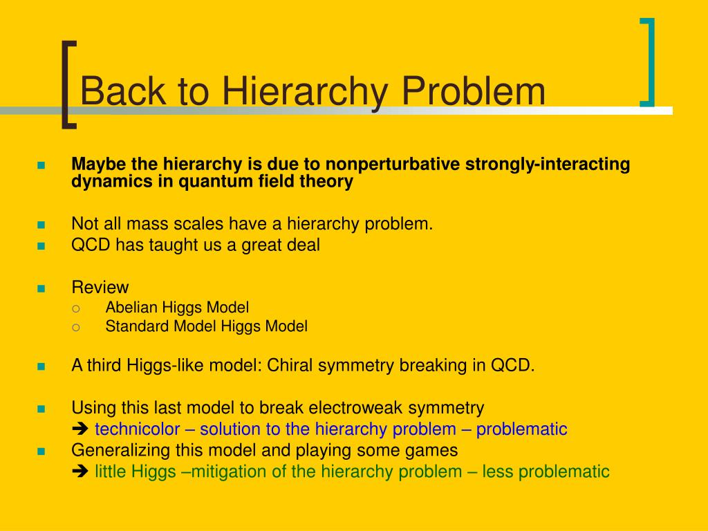 Back to Hierarchy Problem