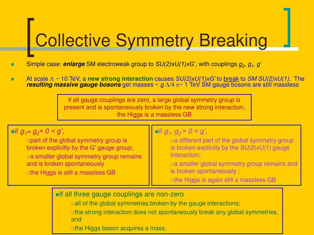 Collective Symmetry Breaking
