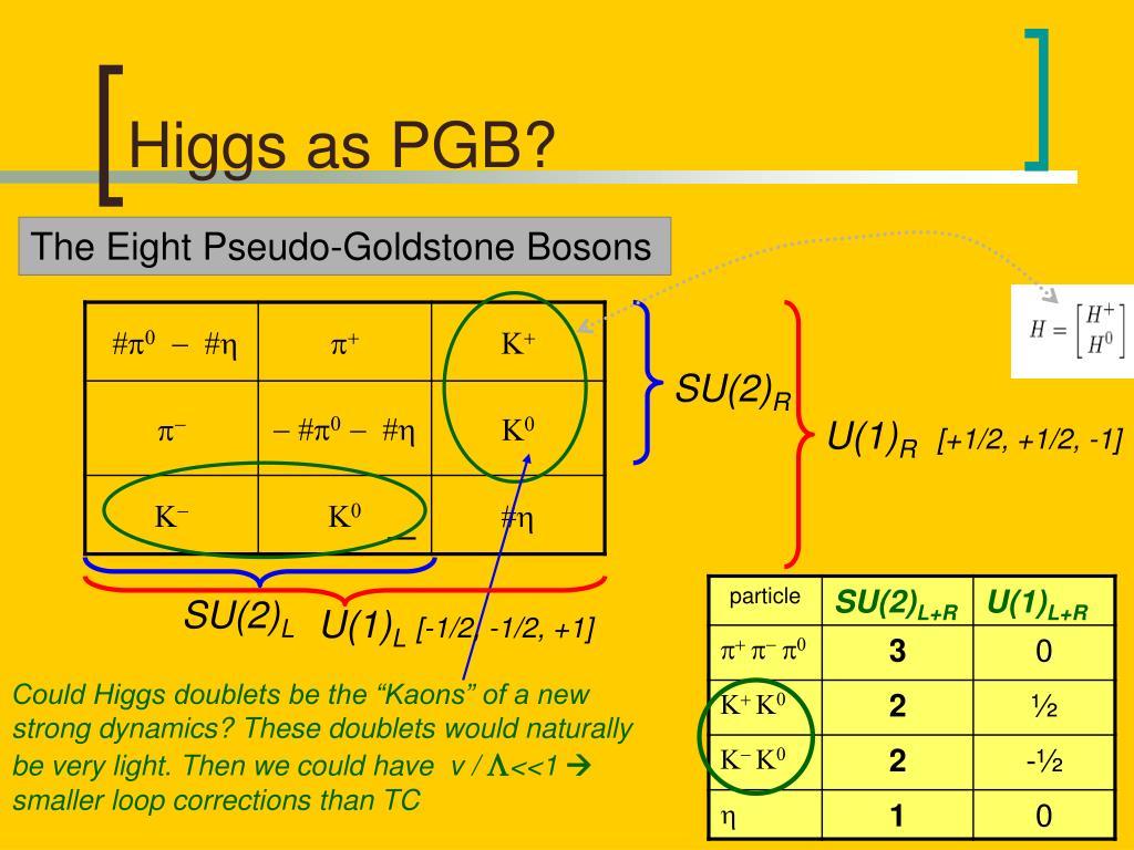 Higgs as PGB?