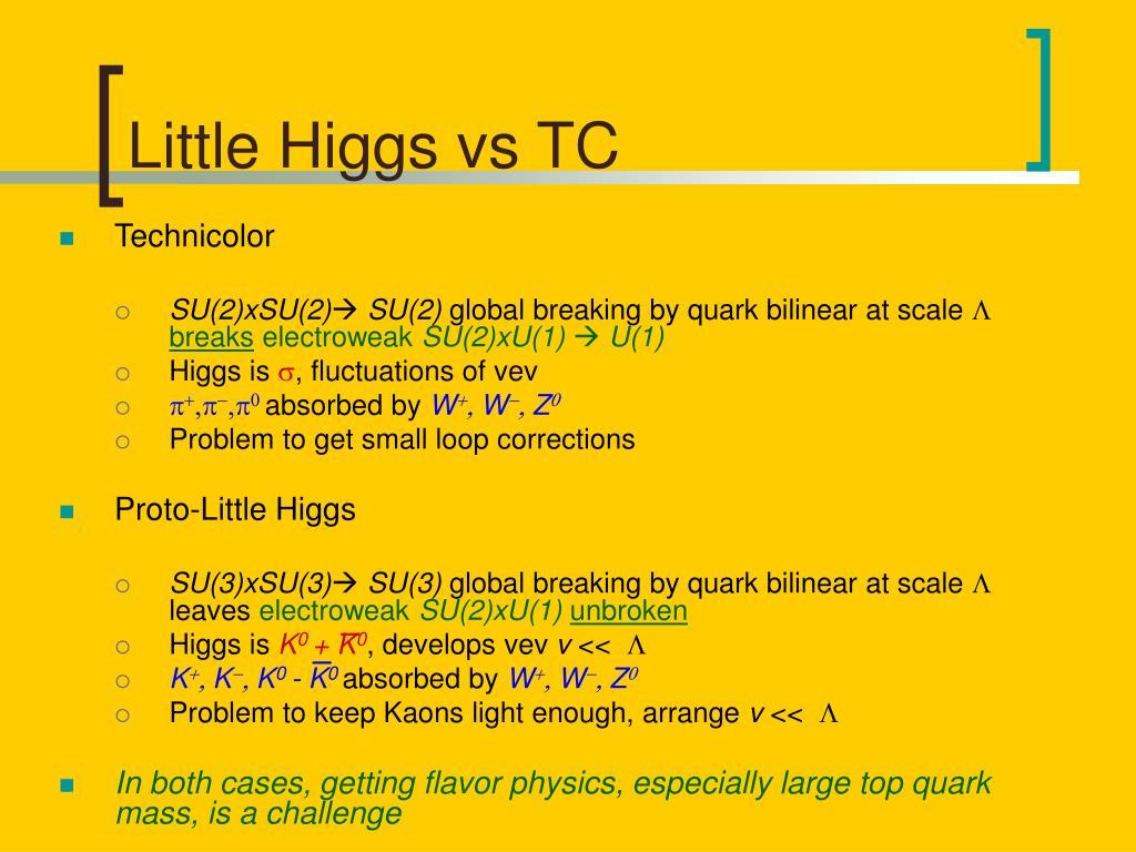 Little Higgs vs TC