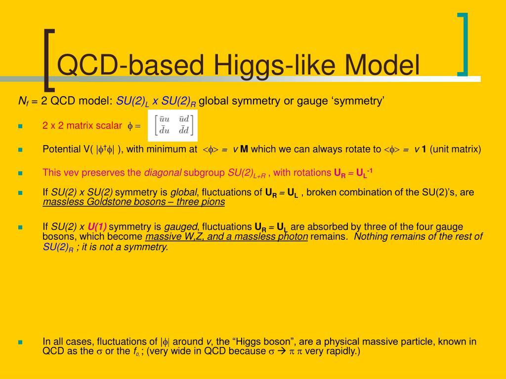 QCD-based Higgs-like Model