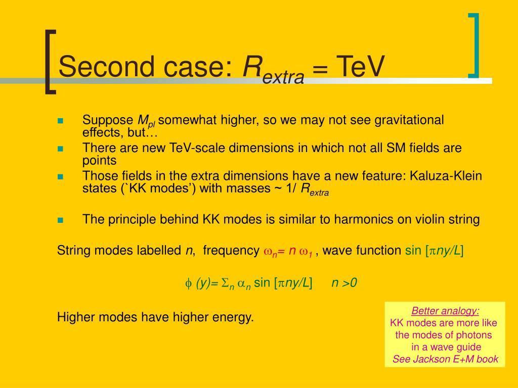 Second case:
