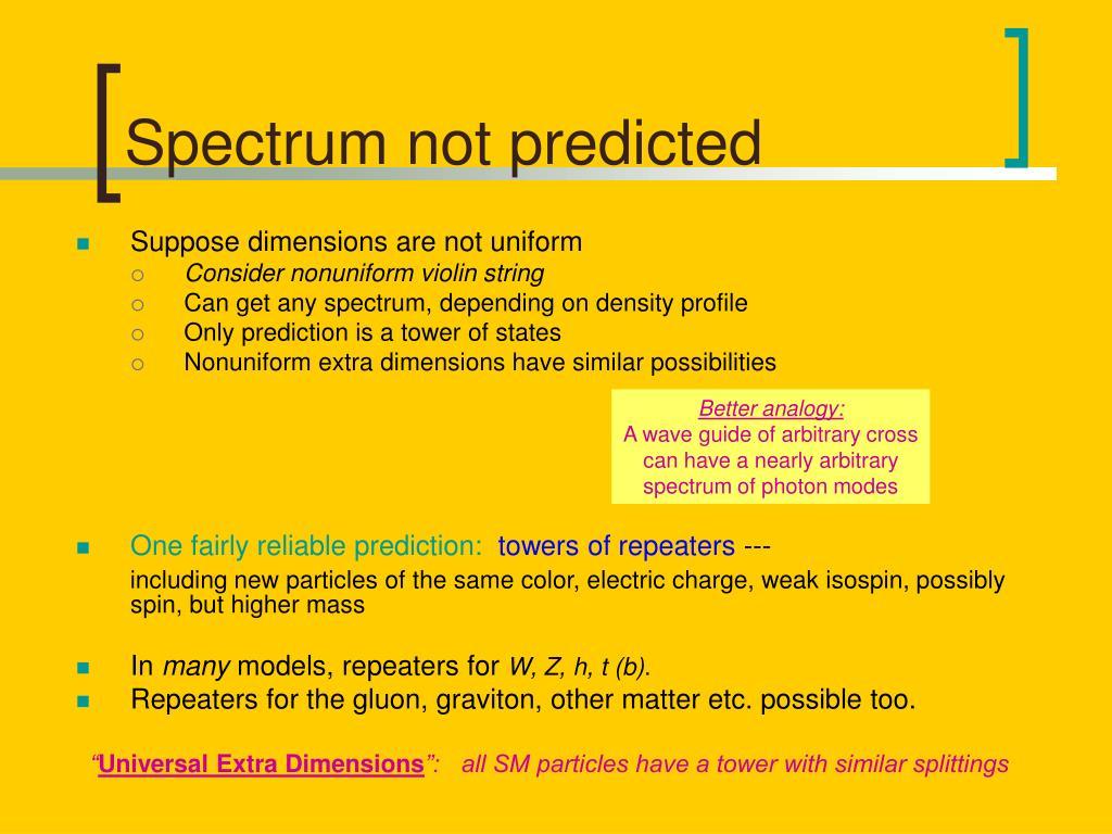 Spectrum not predicted