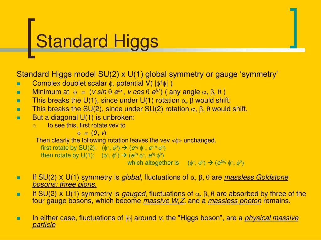 Standard Higgs