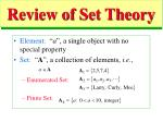 review of set theory