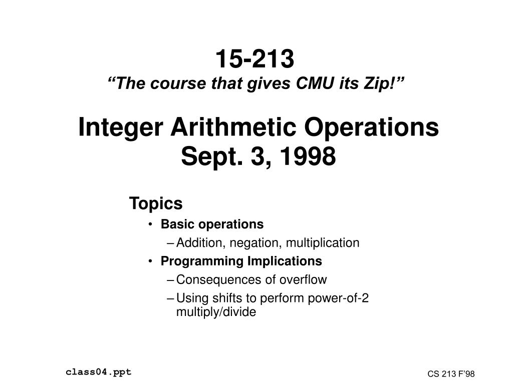 15 213 the course that gives cmu its zip l.