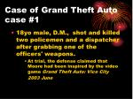 case of grand theft auto case 1